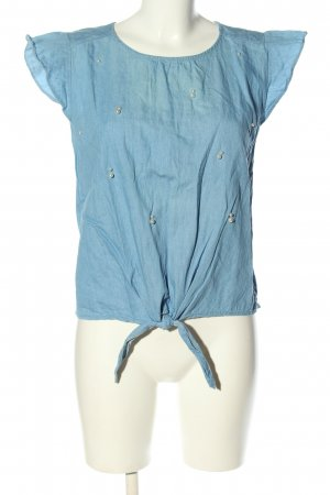 Evis Blouse en jean bleu style décontracté