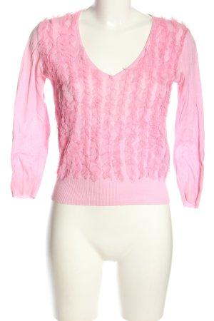 Evisu V-Ausschnitt-Pullover pink Casual-Look