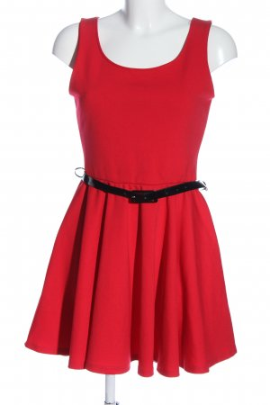 Evita Abito linea A rosso stile casual