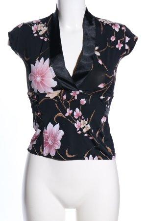 Evita Cropped Shirt Blumenmuster Casual-Look