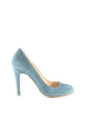 Evita High Heels blau Business-Look