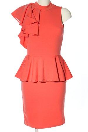 Evita Sukienka na jedno ramię czerwony W stylu biznesowym
