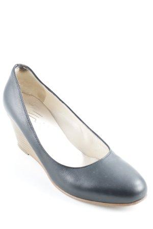 Evita Plateau-Pumps schwarz-braun Casual-Look