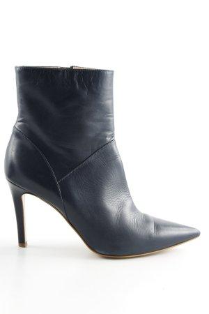 Evita Reißverschluss-Stiefeletten blau Business-Look
