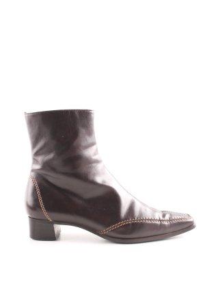 Evita Reißverschluss-Stiefeletten braun Casual-Look