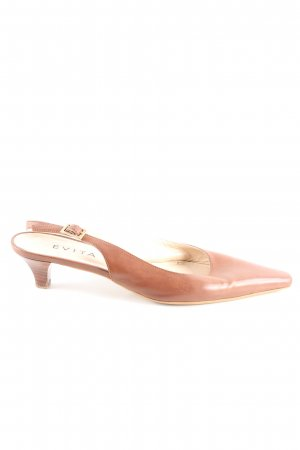 Evita Slingback Pumps brown elegant