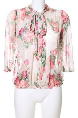Evita Transparenz-Bluse Blumenmuster Casual-Look
