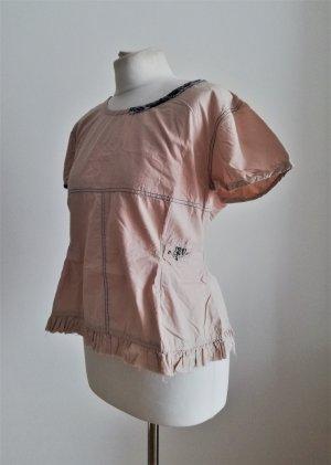 Ewa i Walla braune Bluse im Vintagelook