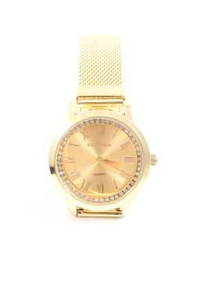 Excellanc Horloge met metalen riempje goud casual uitstraling