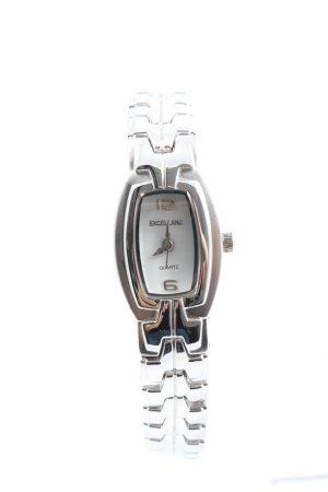 Excellanc Reloj con pulsera metálica color plata look casual