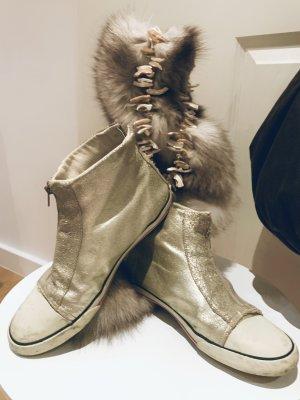 Exclusive Blattgold High top Damen Sneakers v New Order Gr. 39