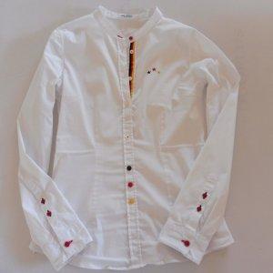 Exclusive Bluse van Laack  Weiß mit vielen schönen Details