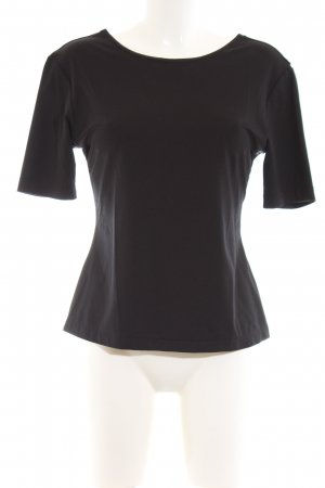 Exclusive Cropped Shirt schwarz Business-Look