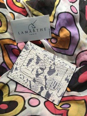 Lamarthe Paris Portafogli bianco-grigio Pelle