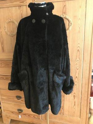 Made in Italy Abrigo de piel negro Pelaje