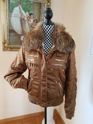 Exclusive Ski Jacke Marke High Society ,XXL Pelzkragen  UVP 980 €