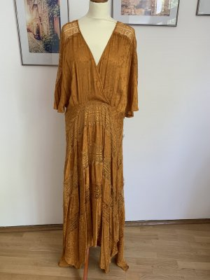 Asos Tall Maxi Dress gold orange