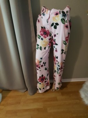 Flares pink-green polyester
