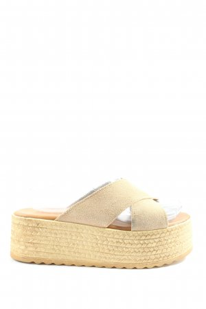 Exe Heel Pantolettes natural white casual look