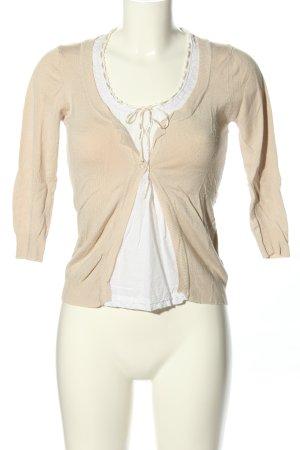 Exellium Ensemble en tricot blanc cassé-blanc style décontracté