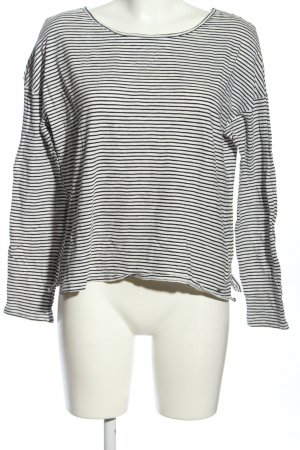 Exit T-Shirt schwarz-weiß Streifenmuster Casual-Look