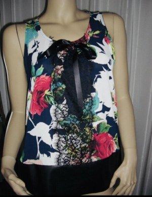 aus Italy Mouwloze blouse veelkleurig