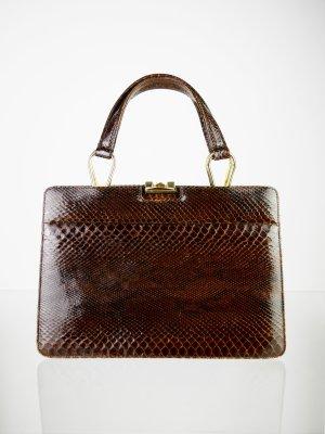 Exklusive Echtleder Handtasche in Brauntönen