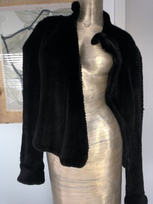 Armani Fur Jacket black