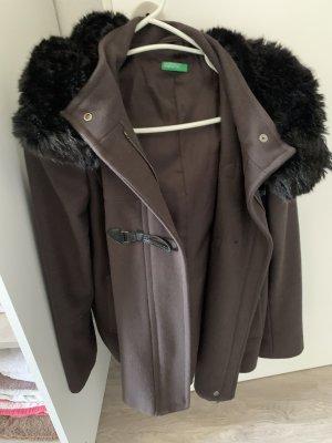 Benetton Duffle-coat brun noir