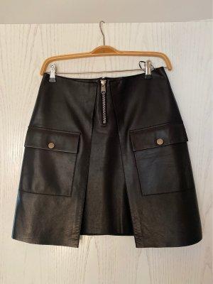 Exklusiver schwarzer Lederrock von Lala Berlin Gr. M
