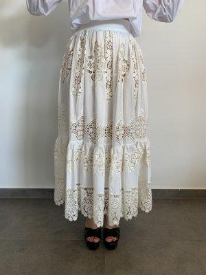 Dolce & Gabbana Jupe en dentelle blanc cassé