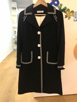 Wollen jas zwart-wit Wol