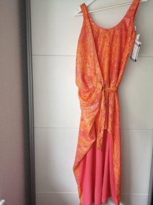 Patrizia Pepe Cekinowa sukienka pomarańczowy neonowy-łosowiowy