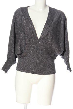 Express Design Studio Pull kimono gris clair motif rayé style décontracté