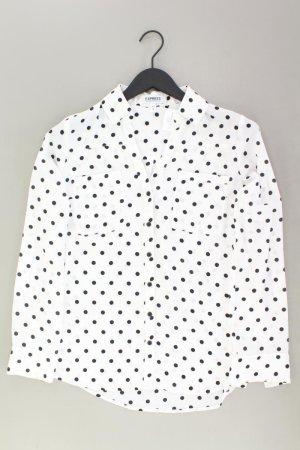 EXPRESS gepunktete Bluse weiß Größe M