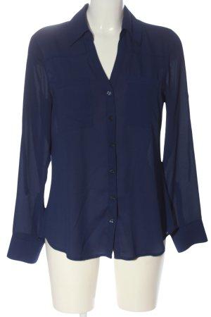 Express Hemd-Bluse blau Business-Look