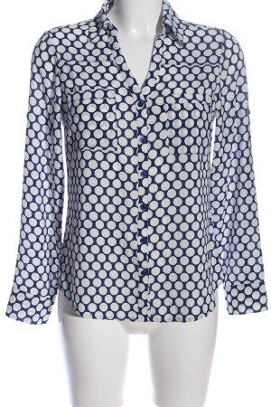 Express Hemd-Bluse blau-weiß Punktemuster Casual-Look