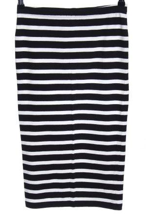 Express Rok met hoge taille zwart-wit gestreept patroon casual uitstraling