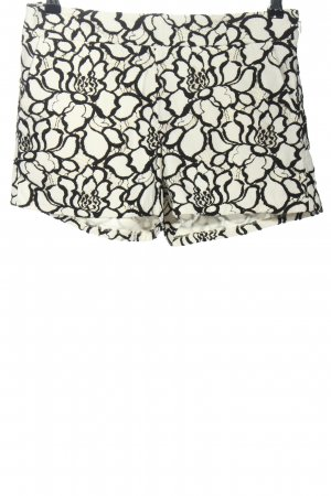 Express High-Waist-Shorts black-white flower pattern casual look