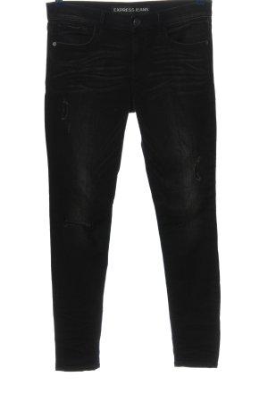 Express Jeans a sigaretta nero Tessuto misto