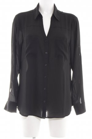Express Langarm-Bluse schwarz Business-Look