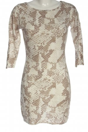 Express Mini Dress white-brown allover print casual look