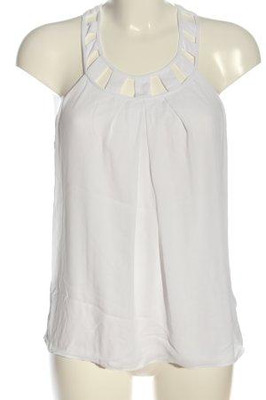 Express Top z odkrytymi plecami biały W stylu casual