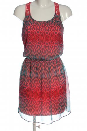 Express Summer Dress red-blue graphic pattern casual look