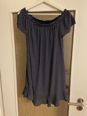Express Summer Dress dark blue-white