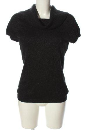 Express Strickshirt schwarz meliert Casual-Look