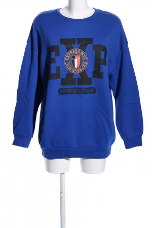 Express Sweatshirt Motivdruck Casual-Look