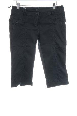 Expresso 3/4-Hose schwarz schlichter Stil