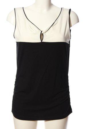 Expresso ärmellose Bluse schwarz-weiß Casual-Look