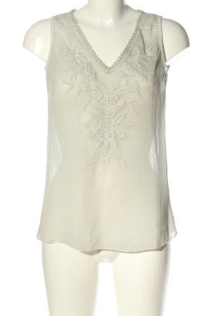 Expresso ärmellose Bluse weiß Elegant